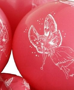 Pink Fairy Printed Balloons