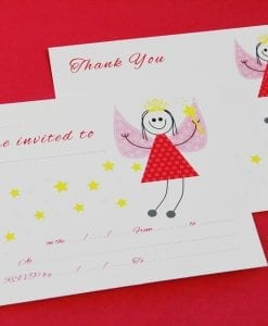 Fairy Party Invitation/Thankyou Cards