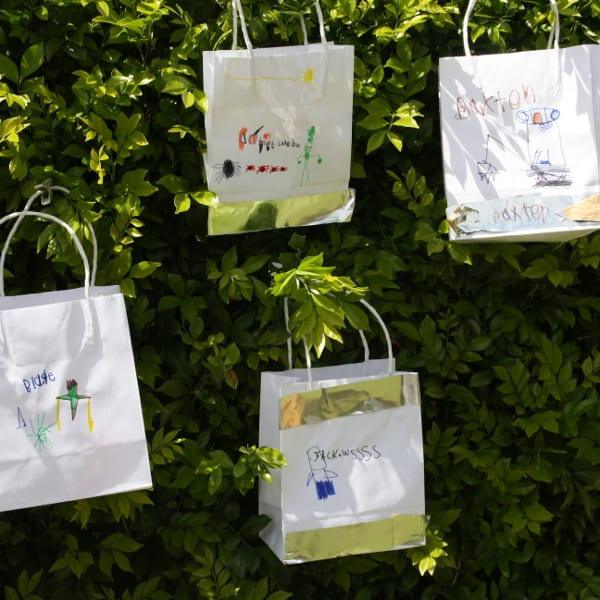 Our hanging assortment of party bags