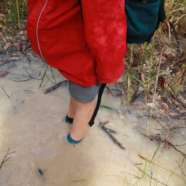 Cool! Ankle deep puddles!