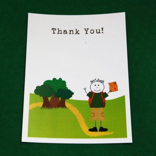 Adventure Thankyou Card
