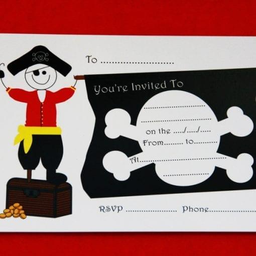 Pirate Party Invitation Card