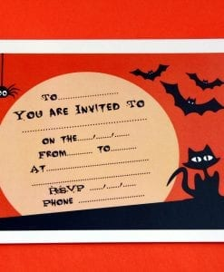 Spooky Party Invitation Cards
