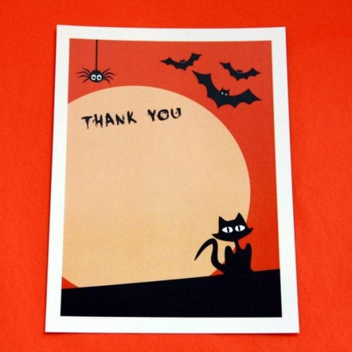 Spooky Thankyou Cards