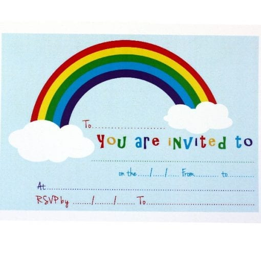Rainbow Invitation Cards
