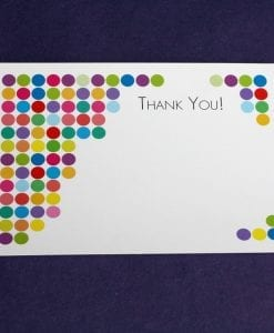 Spotty Party Thankyou Card