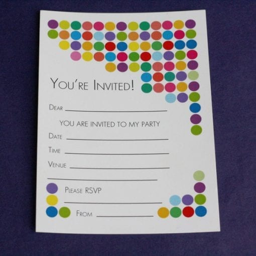 Spotty Party Invitations