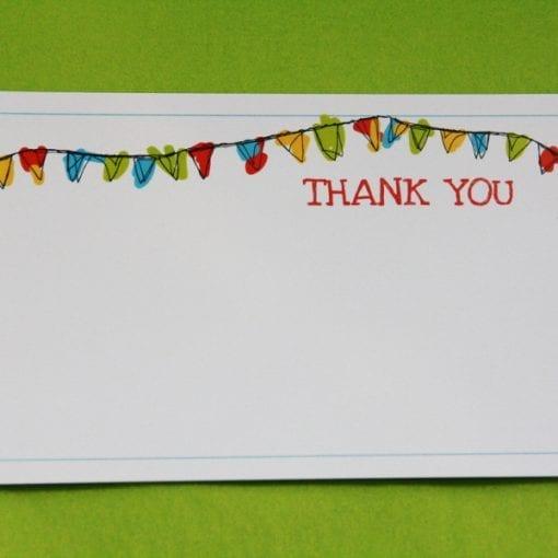Bunting Thankyou Card
