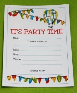 Bunting Invitation Card