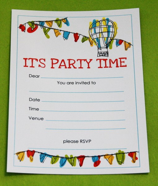 Bunting Invitation Card