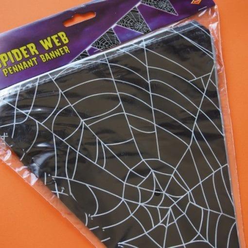 Spiderweb Pennant Banner