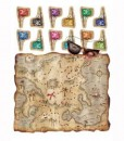 Pirate Pin the Flag on the Treasure Map Party Game