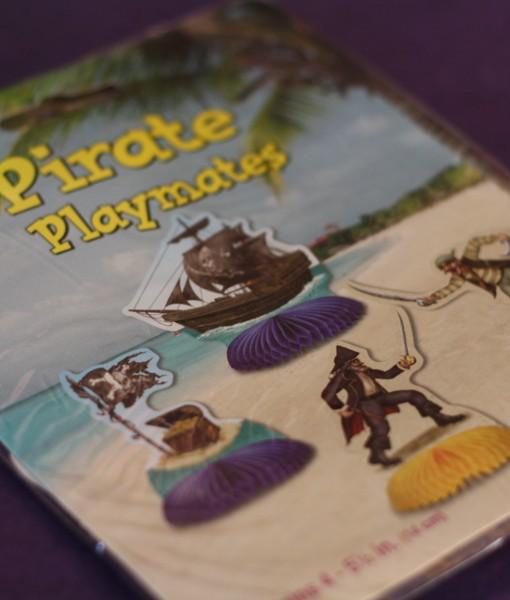 Mini Pirate Honeycomb Centrepieces