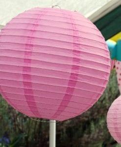 40cm Hot Pink Paper Lantern