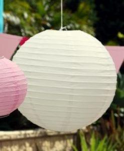 40cm White Paper Lanterns