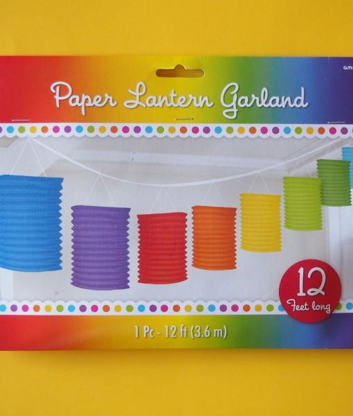 Coloured Lanterns Garland