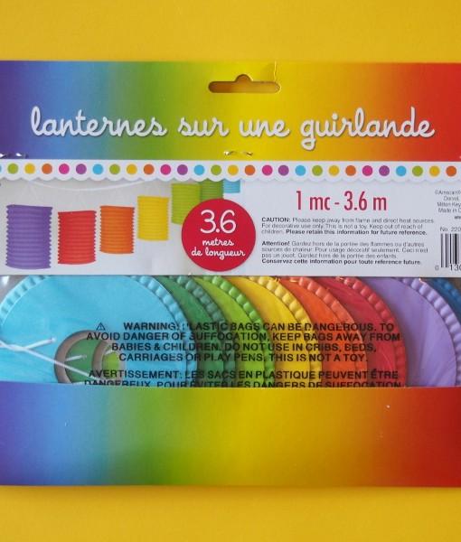 3.6m Paper Lantern Garland