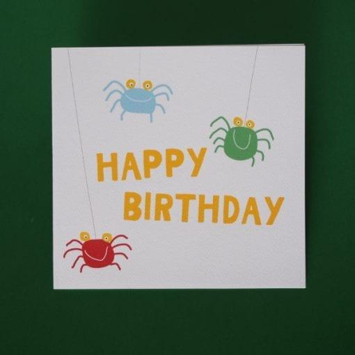 Spider Birthday Card