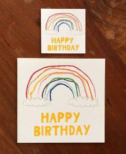 Rainbow Birthday Card and Gift Tag
