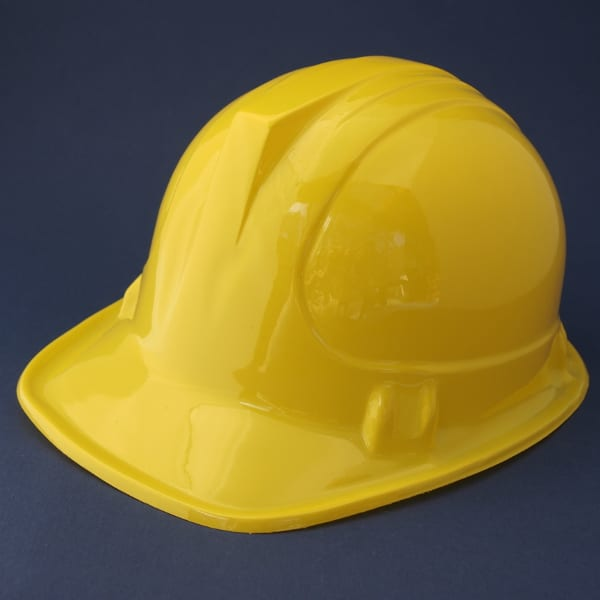 aac68ef124a Yellow construction hard hat is the easiest dress up costume for kids  construction themed birthday parties