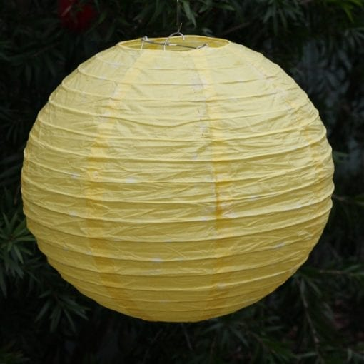 Yellow Paper Lantern 30cm