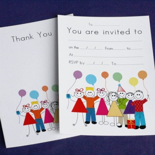Birthday Invite & Thankyou Cards