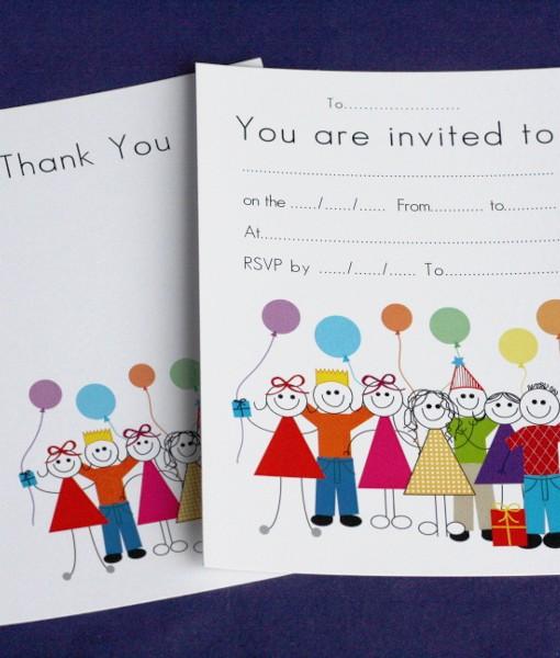 Birthday Invite & Thankyou Cards