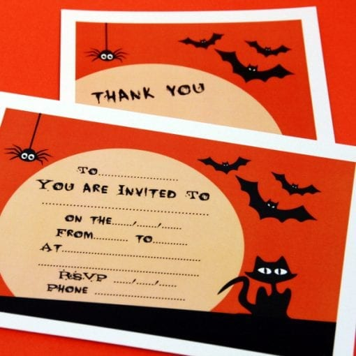 Spooky Party Invite & Thankyou Cards