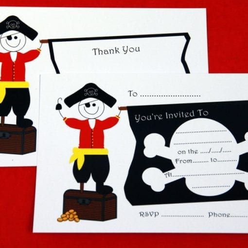 Pirate Party Invite & Thankyou Cards
