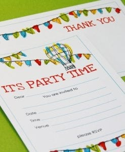 Bunting Invite & Thankyou Cards