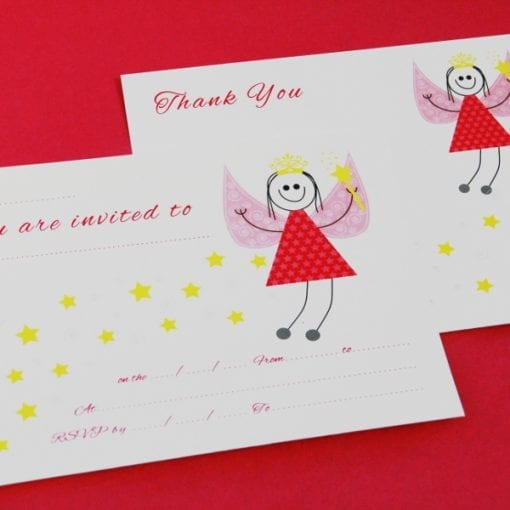 Fairy Invite & Thankyou Cards