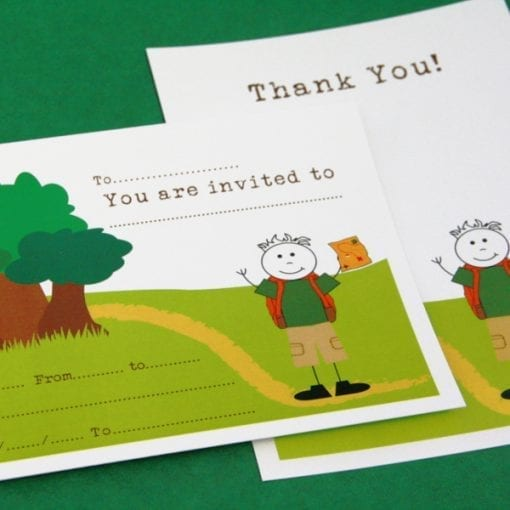 Adventure Invite & Thankyou Cards