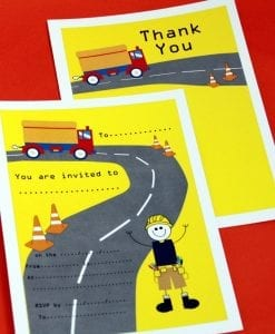 Construction Invite & Thankyou Cards
