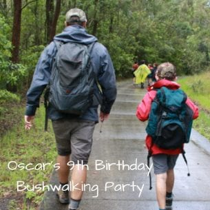 Oscar's 9th Birthday Bushwalking Party