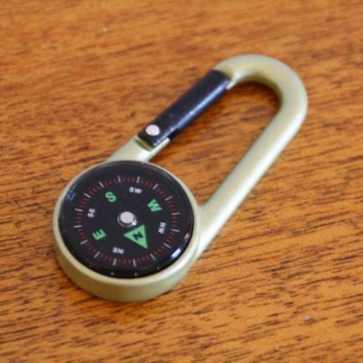 Mini Carabiner Compass