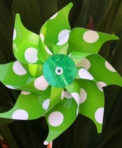 Green Spotty Windmill