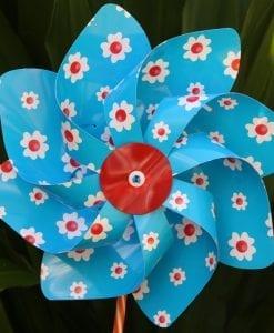 Blue Floral Windmill