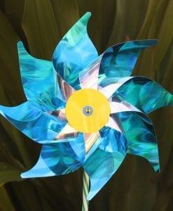 Blue Silver Windmill