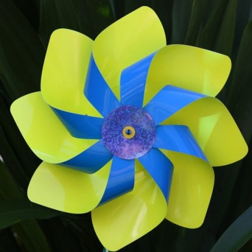 Blue and Yellow Windmill
