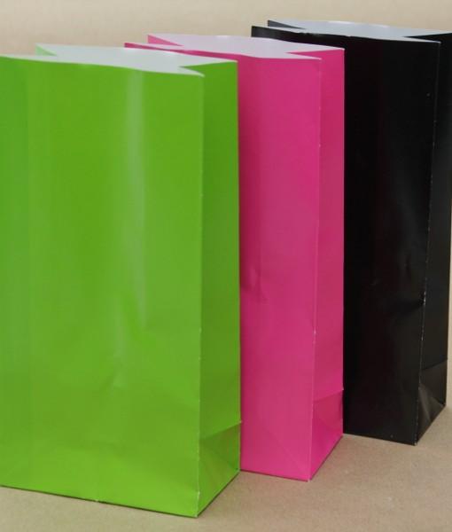 Green, Pink & Black Paper Bags