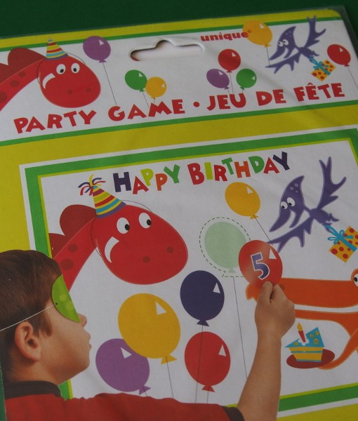 Pin the Dinosaur Party Game