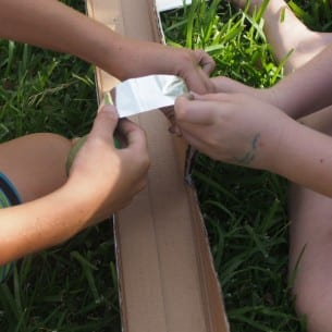 Easter Egg Rolling with Quicksticks Tape