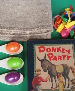 Our Kids Timeless Party Games in a Box is the ideal party pack for boys and girls birthday parties at home. Traditional kids party games include the egg & spoon race game.
