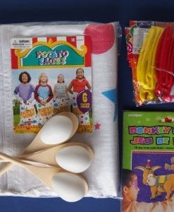 Our Classic Kids Games in a Box - for 10, 15 or 20 kids, is the ideal party pack for kids birthday parties at home. Fun with 4 traditional kids party games