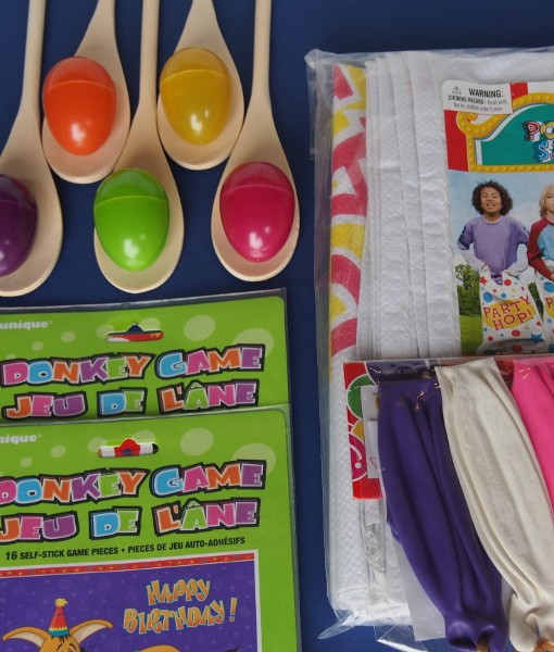 Our Classic Party Games in a Box - for 10, 15 or 20 kids, is the ideal party pack for kids birthday parties at home. Fun with 4 traditional kids party games