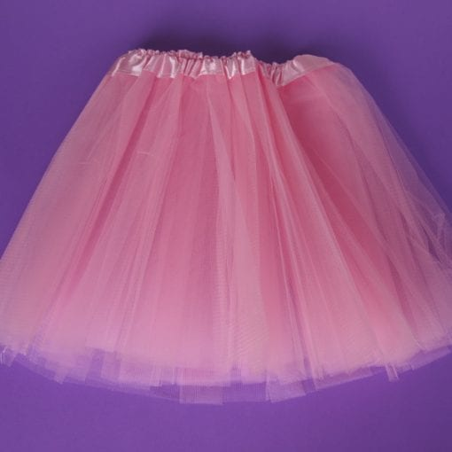 Girls pink tutu skirt is made from soft tulle. Measures 30cm - Ideal for toddlers & girls who love to dress up for a fairy or princess themed birthday party