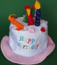 Birthday Hat with Candles is a fun novelty hat for kids to wear on their birthday each year. Boys & girls will love the silliness of wearing this birthday cake hat!