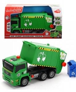 Green coloured Dickie Toys garbage truck is a favourite wheeled toy for kids and toddlers who love to pretend & recreate what they see in the real world.