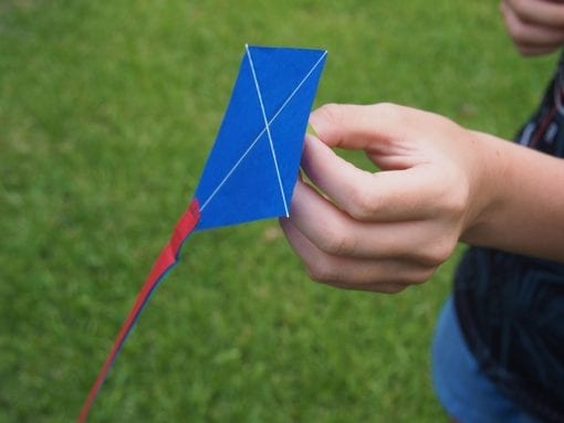 Brightly coloured paper Diamond Kite is the world smallest kite for kids. Ideal for kids party games & favours, the kite is one of the best kites for kids.