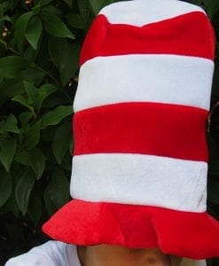 Red and White Striped Hat is a wonderfully smart and fun dress up costume accessory for boys, girls, kids and adults who would like to wear The Cat in the Hat outfit. Such a classic party theme based on a timeless book.